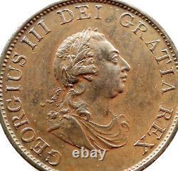 George III Half Penny 1799, Copper, Soho, Gef Ex-laquer Error Doubling Obverse