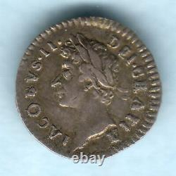 Great Britain. 1686 James 11 Silver Penny. GVF Trace Lustre