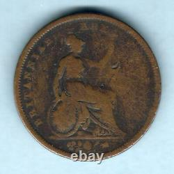Great Britain. 1827 George IV Penny. RARE Date. AF/VG