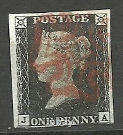 Great Britain 1840, 1 PENNY BLACK Scott # 1 Pos. JA