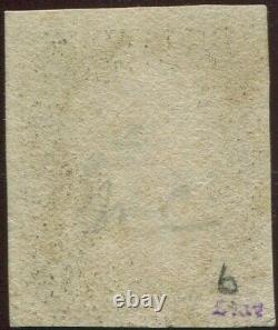 Great Britain 1840 1d Penny Black'AL' Plate 6. 4 Margin. Red Maltese Cross