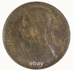 Great Britain 1889 Queen Victoria Penny Coin UNC