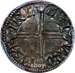 Great Britain Aethelred II (978-1016) Silver Penny PCGS AU-58