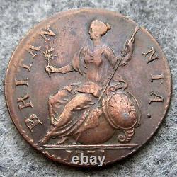 Great Britain George III 1771 Halfpenny Half Penny, Copper Top Grade