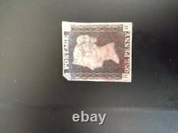 Great Britain Penny Black Victoria 1840 Used Lot Of 10 With Margins No Reserve