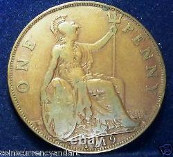 KEY DATE 1919 KN Great Britain One Penny RARE UK Coin