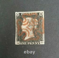 Kerryyw, Penny Black, Red Malttese Cross, Cv$350.00 lot #11