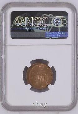 NGC Mint Error Planchet Struck 10% Off Centre 1992 Penny 1p Graded Slabbed