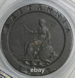 Nice Original 1797 George III 2 Pence Cartwheel Great Britain Coin PCGS XF45