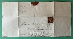 Penny Black Plate 2 (ll) On Part Entire 4 Clear To Huge Margins 19 June 1840