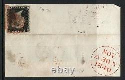 QV penny black 1840 Sg 2 1d black plate 4 (P G) Scottish used with red MX