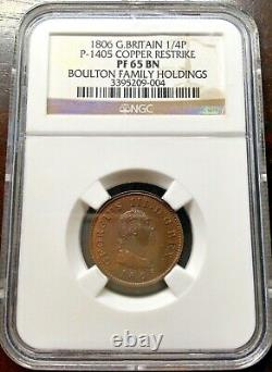 Rare1806 Great Britain 1/4 Penny Farthing Cooper Coin George III Ngc Pf65