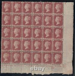 SG 43 Great Britain 1864-79. One penny red plate 192 lower right side corner