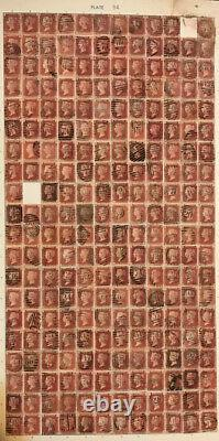 SG 43 Penny Red Album with 15 full reconstruction sheets AA to TL