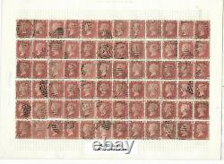 Sg 43 1d Penny Red reconstruction 240 stamps plate 134 ALL GOOD USED