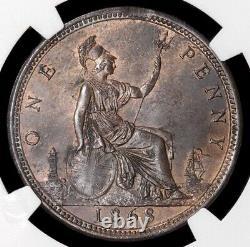 Victoria, 1837-1901. Penny, 1868. Scarce. NGC Encapsulated
