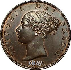 WCA Great Britain Half Penny 1841 Victoria Superb! Lot # B4