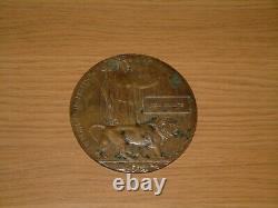 World War 1 Death Plaque Penny Tom Shillito Ww1
