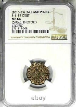 1016 -1023 Grande-bretagne Penny, S-1157, Mbac Ms 64 Superb Strike Thetford Angleterre