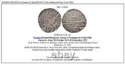 1250ad Angleterre Grande-bretagne Royaume-uni Roi Henry III Argent Martelé Penny Coin I74882