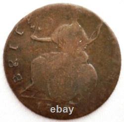 1748 Us Colonial Copper Mule 1/2 Penny Grande-bretagne Pièce D'erreur Contemporaine