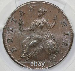1752 1/2d S-3719 George II Grande-bretagne Half Penny Pcgs Ms 64 Bn