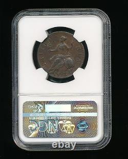 1770 Grande-bretagne 1/2 Penny Ngc Xf 40 Brown (bn) Demi Penny