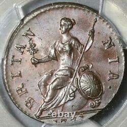 1771 Pcgs Ms 64 George III 1/2 Penny Great Britain Mint State Coin (17091201d)