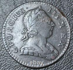 1774 Grande Britaine Half Penny Copper George III Scarce Date