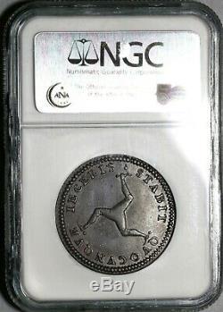 1786 Ngc Au 53 Ile De Man Penny George III Grande-bretagne Coin (20042301c)