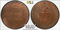 (1790) Grande-bretagne Conder Token 1/2 Penny Pcgs Ms64 Bn Lot#g912 Dh-27 Suffolk