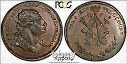 1790's Grande-bretagne Dh-478 Middlesex Demi-penny Conder Token Pcgs Ms63bn