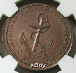 1794 Grande-bretagne 1/2 Penny Anchor Token Ngc Middlesex-spence Mme Brown 62
