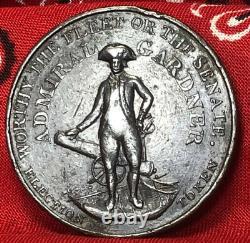 1796 Grande-bretagne Middlesex Admiral Gardner Élections Politiques Token Lg. Penny
