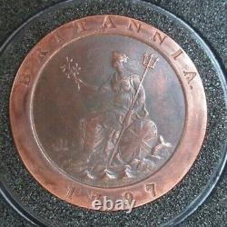 1797 Cartwheel 2 Penny Coin King George I Soho Mint Boxé Avec Capsule Cc1