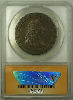 1797 Grande-bretagne 1 Penny Coin King George III Anacs Ef 45