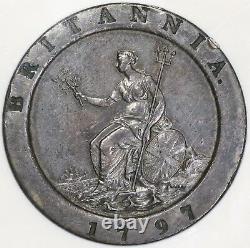 1797 Ngc Au 50 George III 2 Pence Cartwheel Soho Grand Coin Bretagne (de 19012905c)