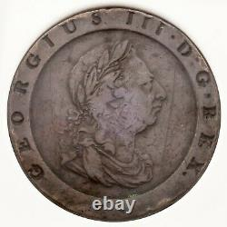 1797 Soho Grande-bretagne 2 Pence Copper Coin Classé Par Ngc Comme Vf Détails