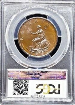 1799 Grande-bretagne George III 1/2 Half Penny Coin Gpc-ms65bn