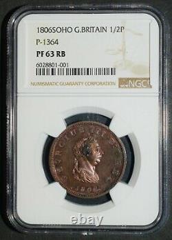 1806 Preuve Demi-penny. Soho