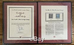 1840 & 1841 Penny Black Et Deux Blue Penny À Westminster Presentaion Dossier
