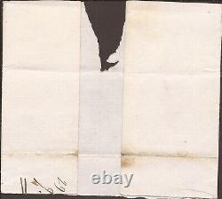 1840 1d Noir Na Sur Emballage, Alnwick Penny Post, Red Mc, Plaque 3, 3mgn, Gu, Cv=£900