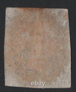 1840 GB Penny Black Pd Stupéfiant Red MX Maltese Cross Worlds Premier Timbre-poste
