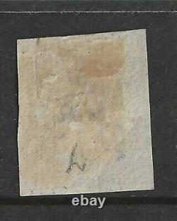 1840 GB Qv Queen Victoria 1d Penny Black Stamp Plate 7'of' Utilisé