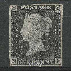 1840 Go Qv Queen Victoria 1d Penny Black Plate 1a, Nf, Mint