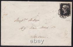 1840 Gran Bretagna, Grande-bretagne N ° 1 Penny Intense Noir (ta) Su Lettera
