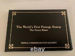 1840 Grande-bretagne Utilisé Penny Black Stamp 4 Margins Look