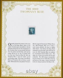 1840 Le Timbre Bleu Deux Penny - Classique Philatélique Certifié