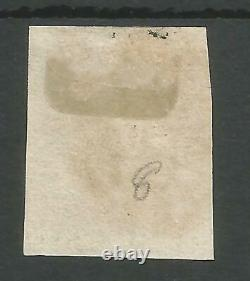 1840 Penny Black (tc) Assiette 8 Fine Utilisée 4 Grandes Marges Énormes Beau Timbre