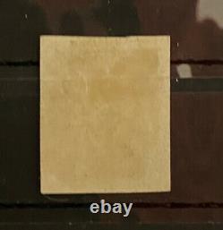 1840 Penny Noir 1d Noir Rouge Plaque MX 7, 4 Marges Lettering Rc